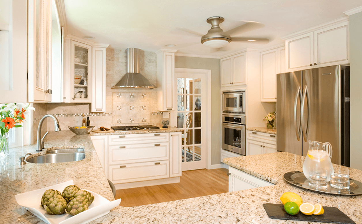 Luxury kitchen remodel with steel appliances and granite counters