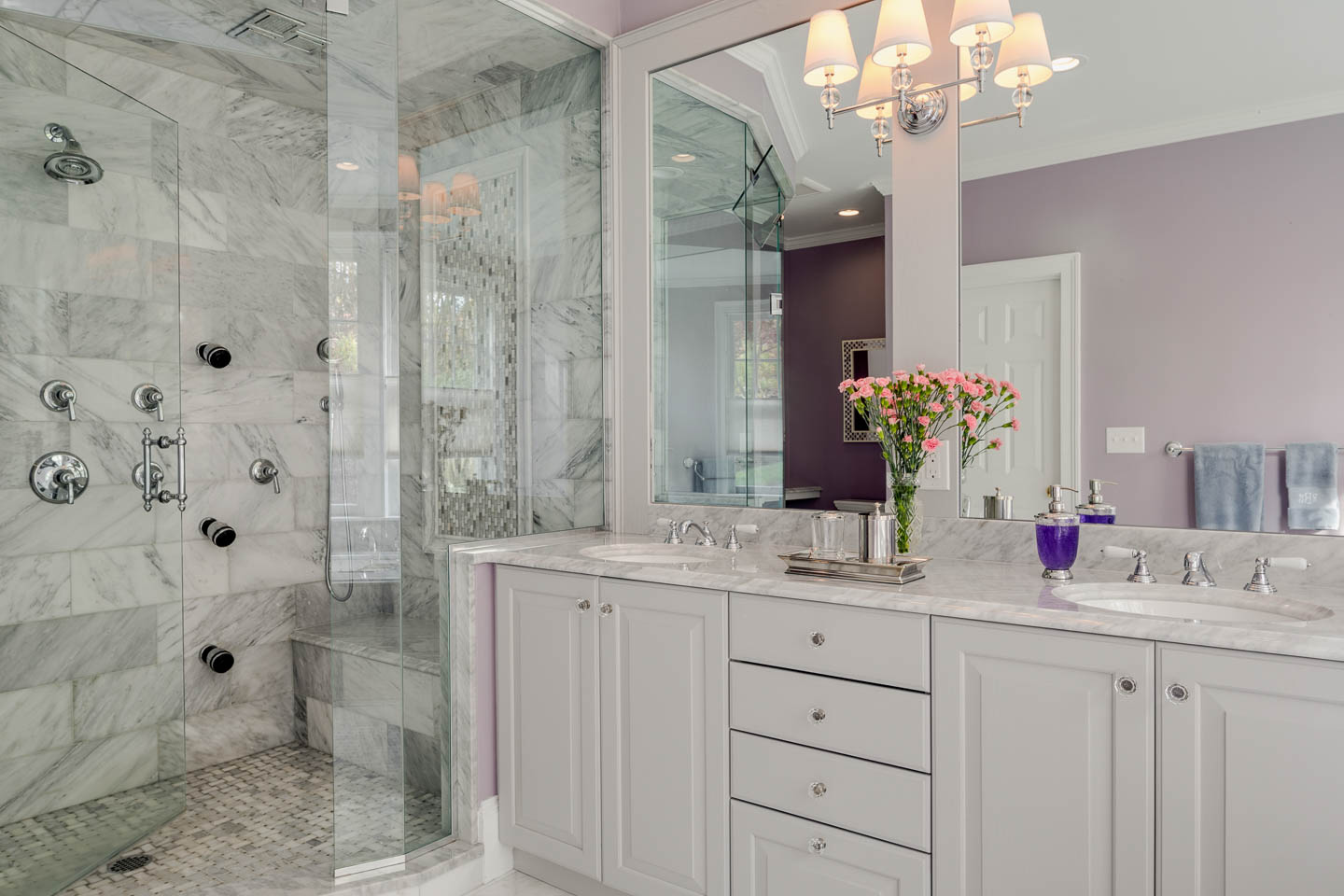 Master bath before and after spa hotel luxury at home Kitchen and bath design center near me