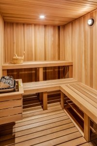 Personal Sauna with two benches