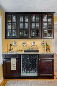 Dark stain wet bar