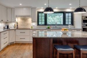 Black PIcture window in new kitchen