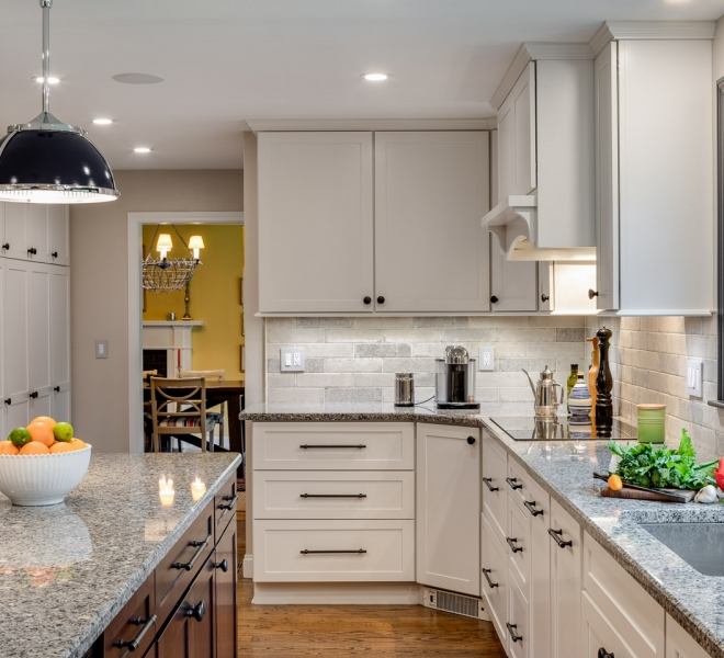 Remodeled White Kitchen in MA